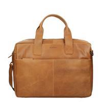 Burkely Laptoptas  Jesse Vintage Shoulderbag Cognac 13 inch