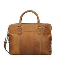 "Chesterfield Schoudertas Laptop Maria 15.4"" Cognac"