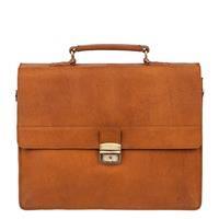 Burkely Vintage Dean Briefcase 3 Cognac