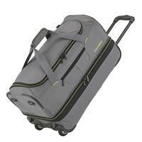 Basics Wheeled Duffle 70cm Expandable Grey/Green
