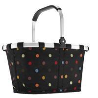 Carrybag Boodschappenmand - Polyester - 22L - Dots Zwart