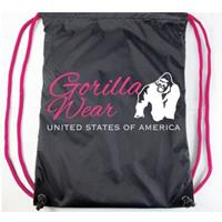 Drawstring Bag Black/Pink