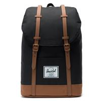 Herschel Retreat Rugzak Black/Saddle Brown