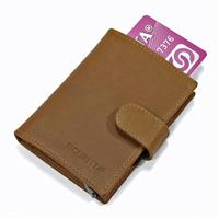 Figuretta Card Protector Wallet leather Khaki
