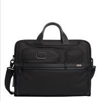 Alpha 3 Compact Large Laptop Briefcase black