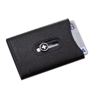 Wagner of Switzerland Wagner Swiss Wallet Tuxedo Black Leather