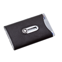 Wagner of Switzerland Wagner Swiss Wallet Tuxedo Silver Leather