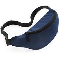 Heuptasje/buideltasje navy blauw 38 cm - Donkerblauw festivaltasjes