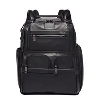 Alpha Compact Laptop Brief Pack Leahter black