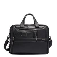 Alpha Expandable Organizer Laptop Brief Leather black
