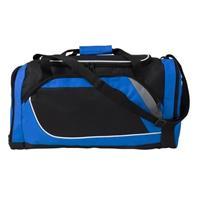 Blauw met zwarte sporttas/reistas 45 liter Zwart