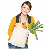 6 katoenen boodschappen tassen naturel