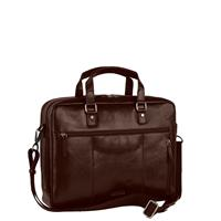 Leonhard Heyden Roma Zipped Briefcase 2 Compartments brown