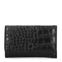 Sacha Zwarte snakeskin portemonnee - zwart