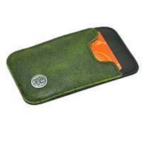 MoreThanHip Slim - miniportemonneetje van autoband en ecoleer - groen