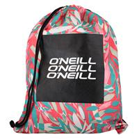 O'Neill Logo Gym Sack red aop w/blue