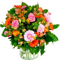 Debloemist Boeket oranje roze