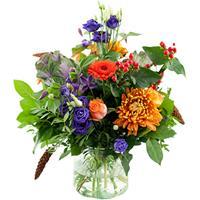 Debloemist Seizoensboeket oranje lila/paars