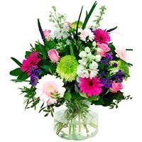 Debloemist Boeket roze - wit - paars
