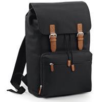 Bagbase Vintage schooltas rugzak/rugtas zwart 49 cm Zwart