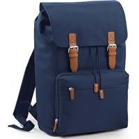 Bagbase Vintage schooltas rugzak/rugtas navy 49 cm Blauw