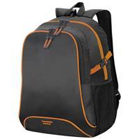 Shugon Allround rugzak/rugtas zwart/oranje 44 cm Zwart