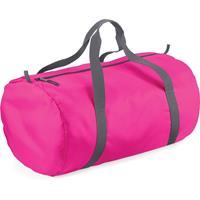 Bagbase Fuchsia roze ronde polyester sporttas/weekendtas 32 liter Roze