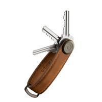 Orbitkey Crazy Horse Leather Key Organiser chestnut brown