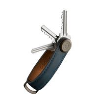 Orbitkey Crazy Horse Leather Key Organiser marine blue