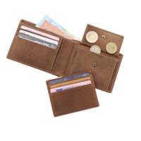 MoreThanHip RFID herenportemonnee ecoleer - Luton bruin vintage