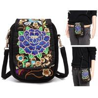 newchic Woman Tribal Retro Shoulder Bag Canvas Chinese Style Phone Bag Little Bag For Woman