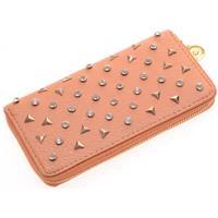 lookinggoodtoday Dames portemonnee Spikes Bruin met goud E-B24.4