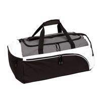Grote sporttas/reistas zwart/wit 63 liter Multi