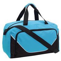 Sporttas/reistas lichtblauw/zwart 29 liter Multi