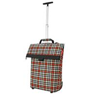 Reisenthel Trolley M Boodschappentrolley - Polyester - 43 L - Glencheck Red Rood; Zwart; Zand