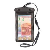 Bellatio 2x Waterdichte geldbuidel/ moneybelt nektasje zwart Zwart
