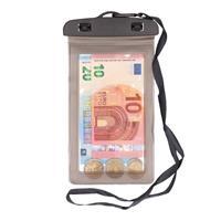 Bellatio 2x Waterdichte geldbuidel/ moneybelt nektasje grijs Grijs
