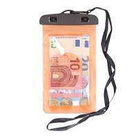 Bellatio 2x Waterdichte geldbuidel/ moneybelt nektasje oranje Oranje