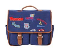 Oilily Schoolbag with flap badges- blauw