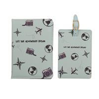 Fashionthings Let the adventure begin Paspoorthoesje & luggage label - giftbox