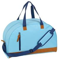Sporttas/reistas lichtblauw met kunstleer 50 cm Blauw