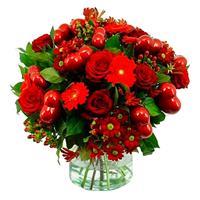 debloemist Valentijn boeket met rode hartjes