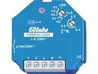 eltako Draadloze actor FHK61U-230V Inbouw Schakelvermogen (max.) 2500 W Bereik max. (in het vrije veld) 30 m