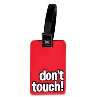 kofferlabels don't touch! 7,5 x 5 cm rood 2 stuks