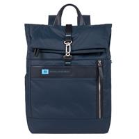 Piquadro PQ-BIO Nylon Roll Top PC Backpack 15.6 Blue