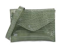 Hvisk Dames Clutches in Lak (Groen)
