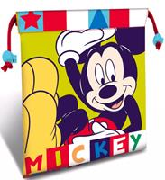 Disney lunchtas Mickey Mouse junior 22 cm polyester geel/blauw