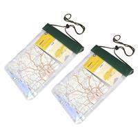 Pakket van 2x stuks waterproof PVC zakken/tasjes met koord x 26,5 cm - Reistas (volwassen)
