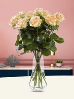 Surprose 10 zalmkleurige rozen - Avalanche Peach | Rozen online bestellen & versturen | .nl
