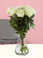 10 witte rozen - Avalanche | Rozen online bestellen & versturen | .nl